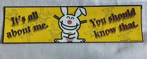 """books bumpers mirrors #8 Happy Happy Bunny Stickers 8 1//2/""""x2 1//2/"""" for cars"""
