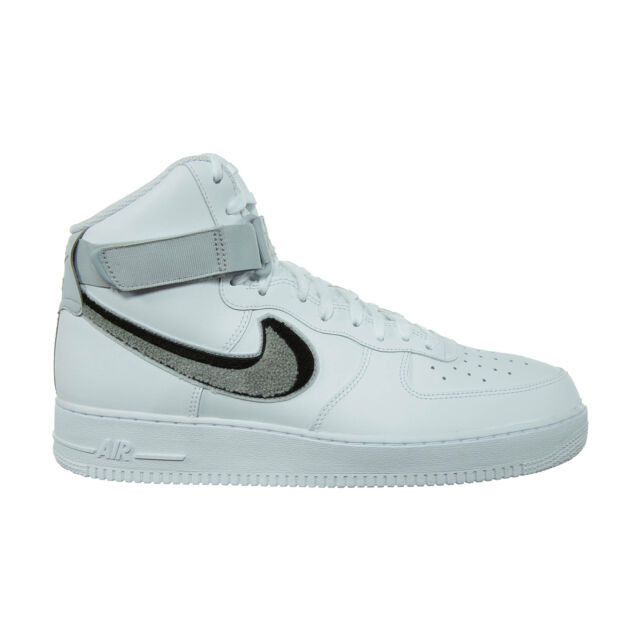 best authentic 3a891 43265 Nike Air Force 1 High 07 LV8 Mens 806403-105 White Grey Black Shoes