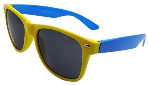 NEW YELLOW /& BLUE SUNGLASSES RETRO VINTAGE STYLE UV400 PROTECTION UNISEX WYS3