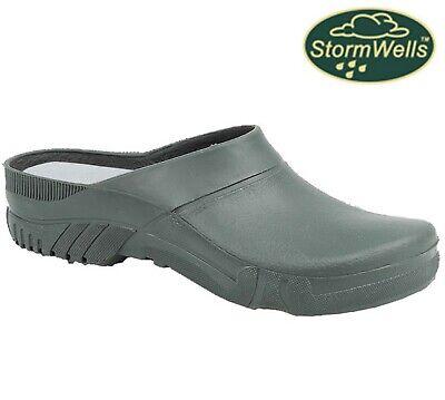 Briers Mens Womens Slip On Gardening Waterproof Ladies Wellies Clogs Shoes Size