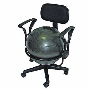 Exercise Ball Chair Balance Stability With Arms Yoga for The Office Fitness Desk  sc 1 st  eBay & Exercise Ball Chair Balance Stability With Arms Yoga for The Office ...