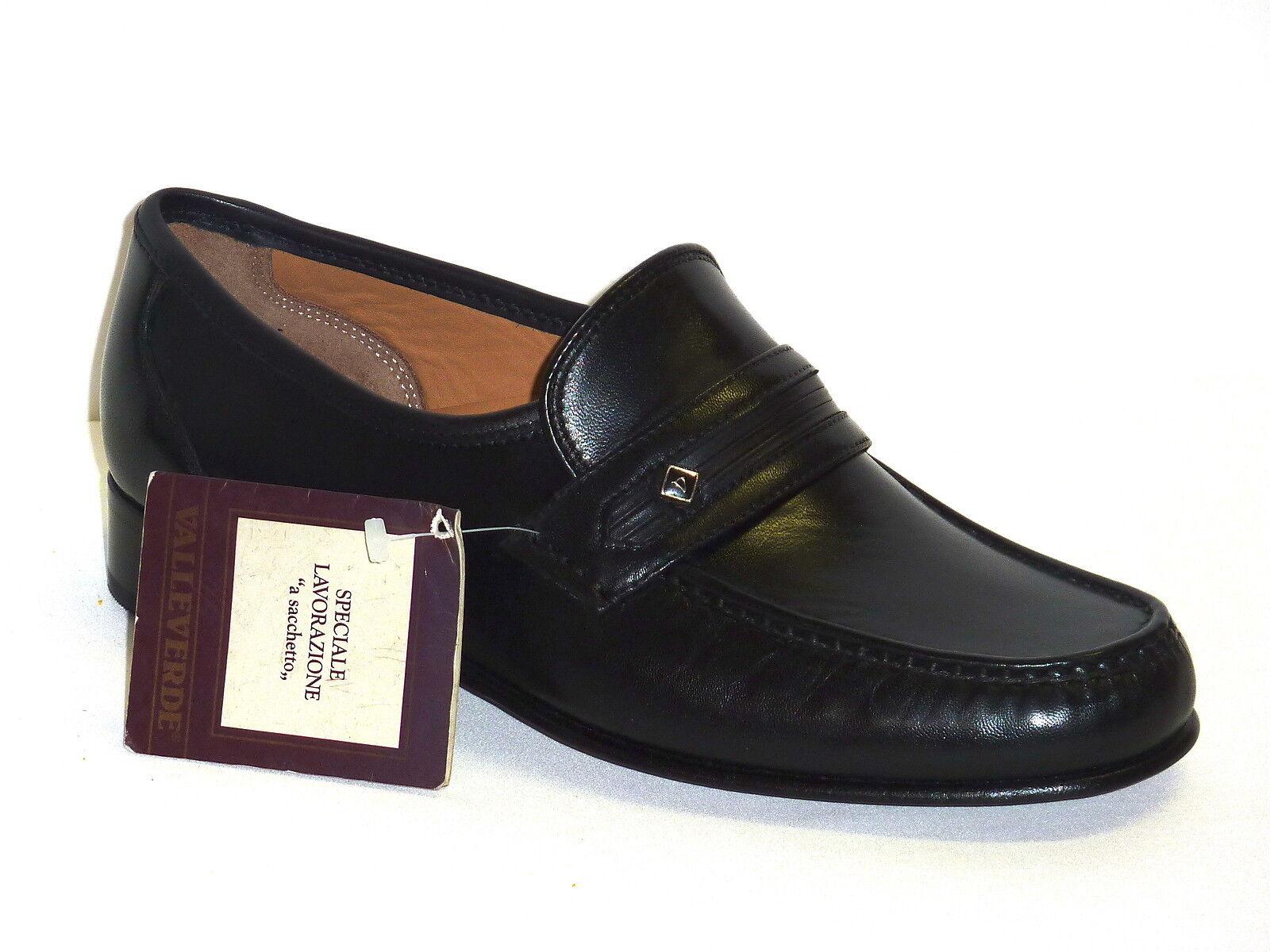 4929 VALLEgreen shoes MOCASSINI CLASSICHE men PELLE black MODA COMODA n. 44