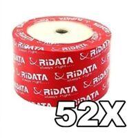 200 52X Ridata Brand White Inkjet HUB Printable CD-R CDR Blank Disc Media 700MB