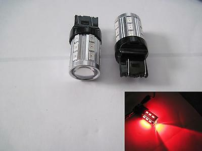 2 pcs 7440 7443 15W Samsung 5630 SMD + CREE High Power Red LED Projector Len