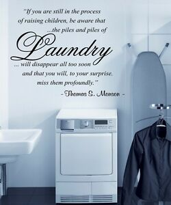 Wall Decal Vinyl Quote Thomas S Monson Lds Mormon Laundry Room Pick