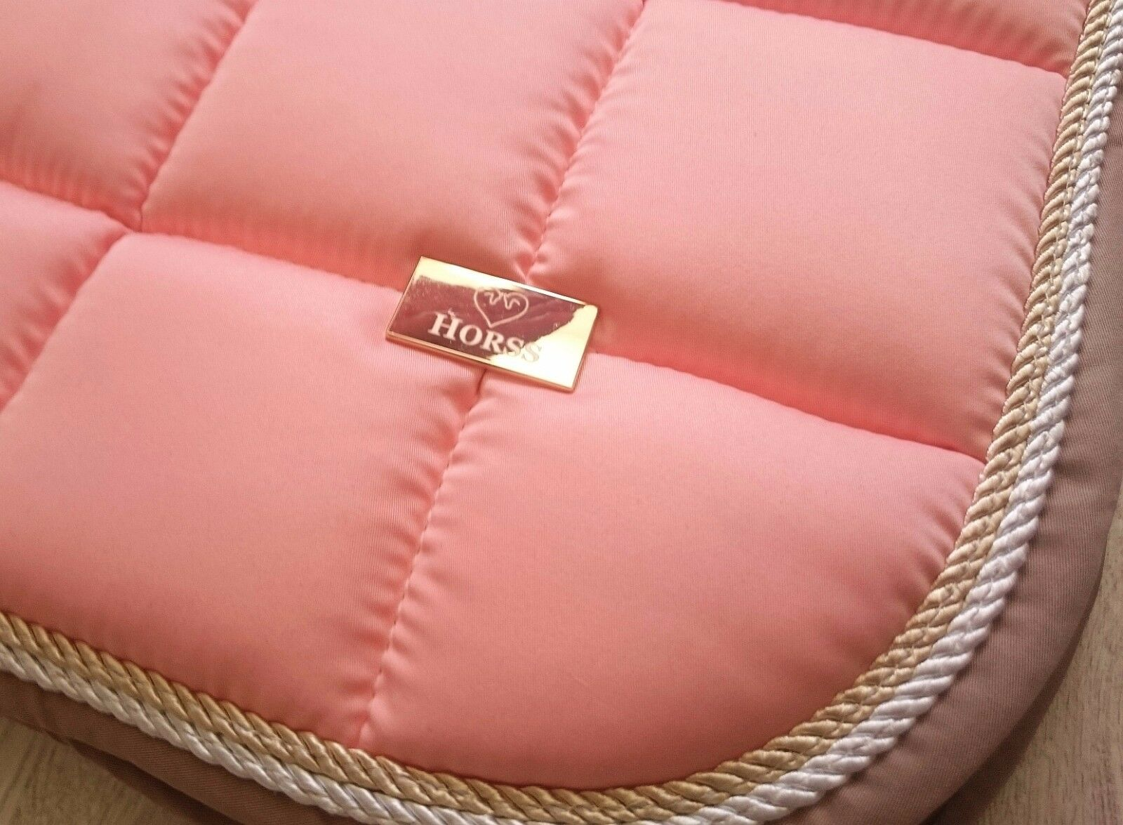 HORSS Exclusive saddlepad saddlepad saddlepad - Shell coral / Beige aa40bc