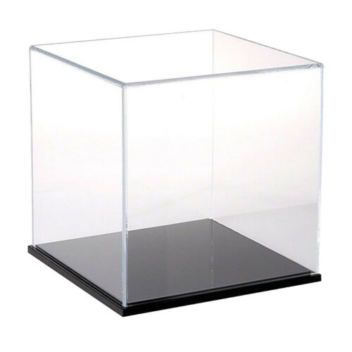 Clear Acrylic Display Show Case Dust-proof Protection Storage Box 20x20x20cm