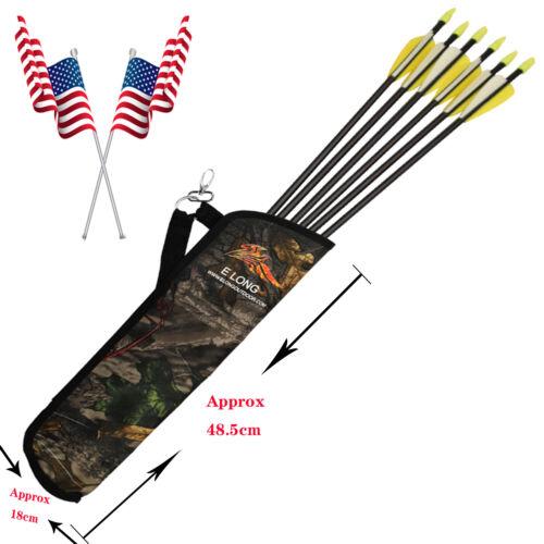 Archery Arrow Quiver Bag Crossbow Back Waist Shoulder Strap Bag Pouch Holder