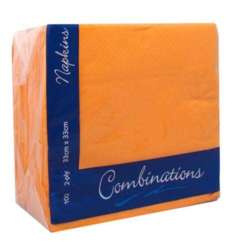 Serviettes en papier Pack 100 Vaisselle Fête Doux Serviettes-voir Extra nouvelles couleurs