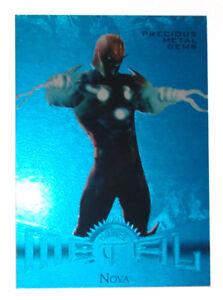 2013-Marvel-Fleer-Retro-Nova-Blue-PMG-Precious-Metal-Gems-Card-45-50