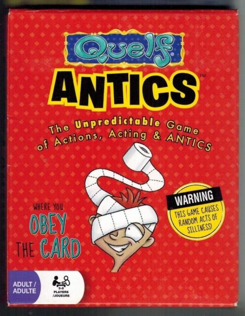 Quelf Antics The Hilarious Unpredictable Card Game Of Action Acting