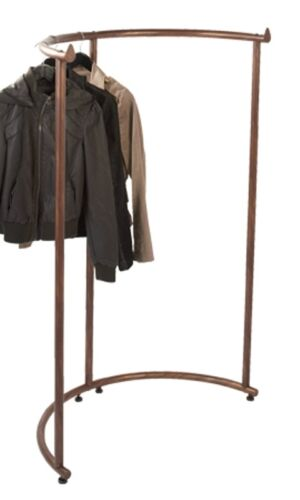 Floor Half Round Clothes Display Rack (Cobblestone)