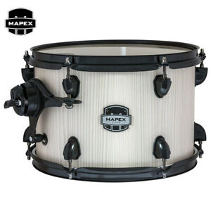 """NEW Mapex Mars Series 8/"""" x 7/"""" Mounted Tom Pack Bonewood with Clamp and Holder"""