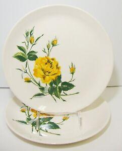 Salem-Talisman-Yellow-Rose-China-Dinner-Plate-Set-of-2