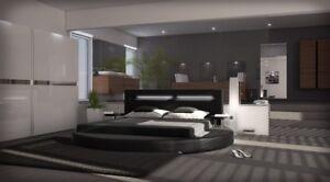 Rundbett Design Bett Rund Night Polsterbett Ehebett Doppelbett Mit
