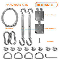 Sun Shades Depot Sail Pro Stainless Steel Wire Hardware Installation Kit 8 Inch