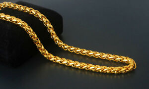23-Vintage-14K-Gold-Filled-Lantern-Rope-Chain-Long-Mens-Heavy-Necklace