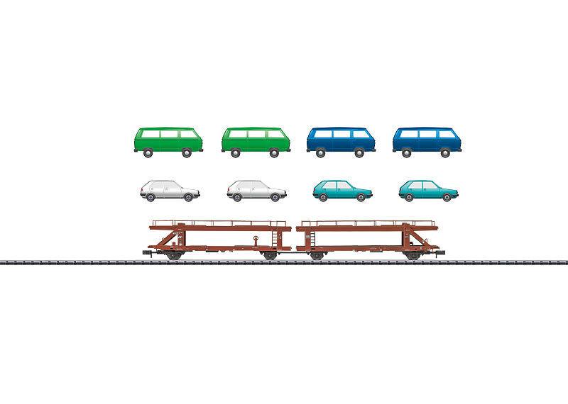 Trix Minitrix 15441 Vagón para automóviles de DB Unidad doble carga  en