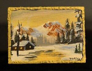 Miniature Painting Dollhouse 1:12 Artist Made Artisan Framed