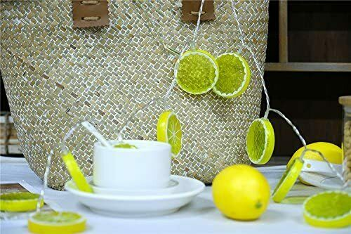 Lemon Fairy String Lights with 20 LED For Indoor and Outdoor Decor