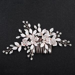 Wedding-Clips-Flower-Leaf-Ornaments-Comb-Hair-Accessories-Hairpins-Jewelry