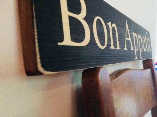 Bon Appetit Sign Restaurant Pub Vintage Food Party BBQ Hotel Gift Wooden Sign