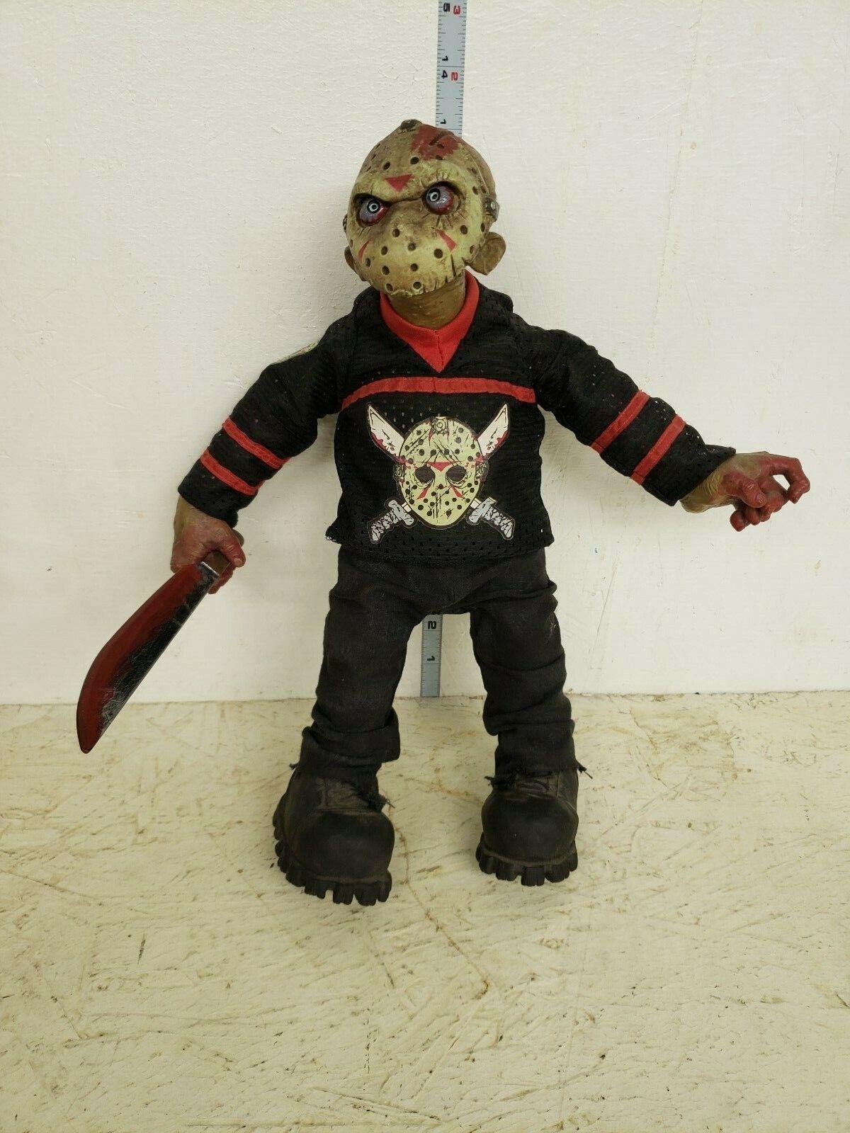 Mezco Jason in hockey jersey Plush Figure LOOSE