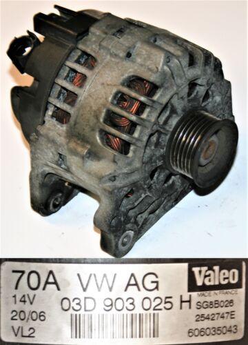 VW Fox Alternator 70 AMP 1.2 9N Valeo SG8B026 VW 03D 903 025 H