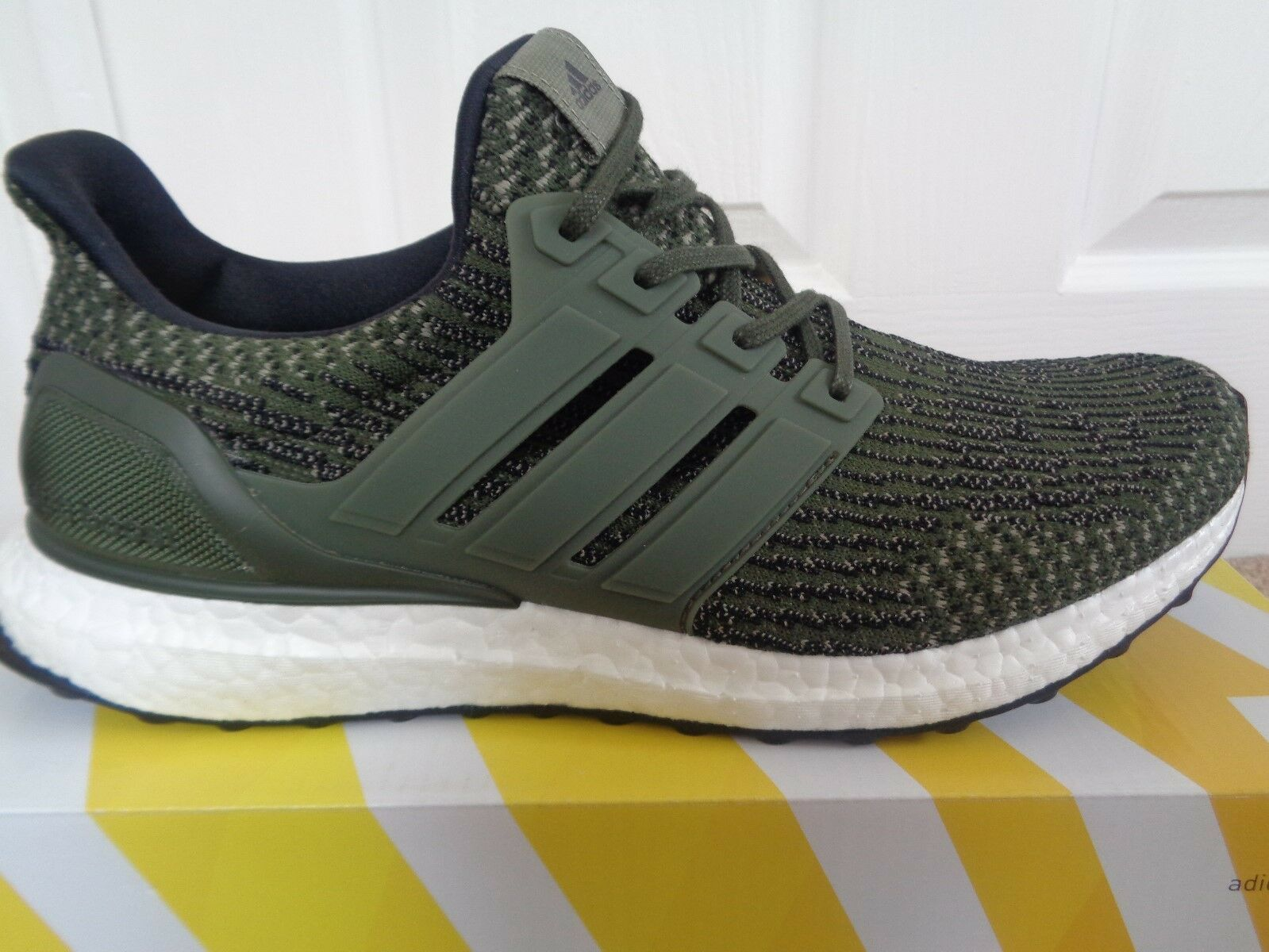 NEW Adidas Ultra Boost 3.0 M Trace Olive Khaki Cargo Leather Cage White S82018