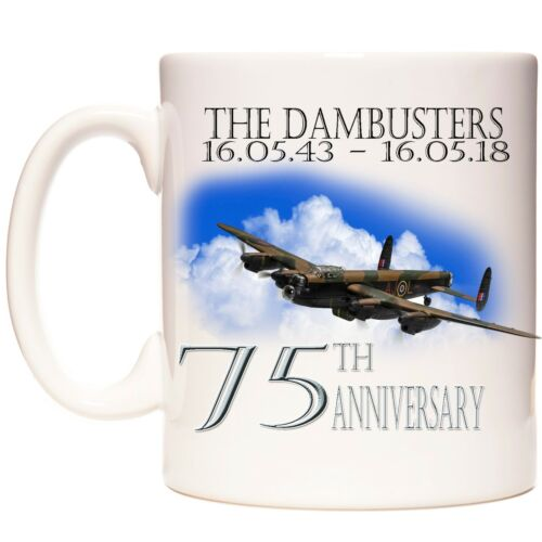 Dambusters 75TH Taza De Regalo De Aniversario 10/% a Royal Air Force benevolente Fondo