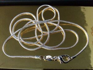 925-Sterling-Silver-Snake-Chain-NEW-30-034-Extra-Long-FREE-Gift-Bag