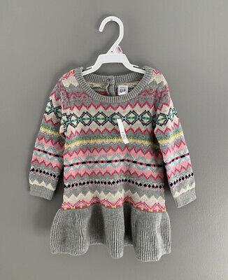 NWT Baby Gap Star Print Sleeveless Knit Dress Toddler Girl