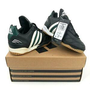 Vintage-adidas-Gammanova-IN-J-Kids-Boys-10-5K-Indoor-Soccer-Shoes-Black-Green
