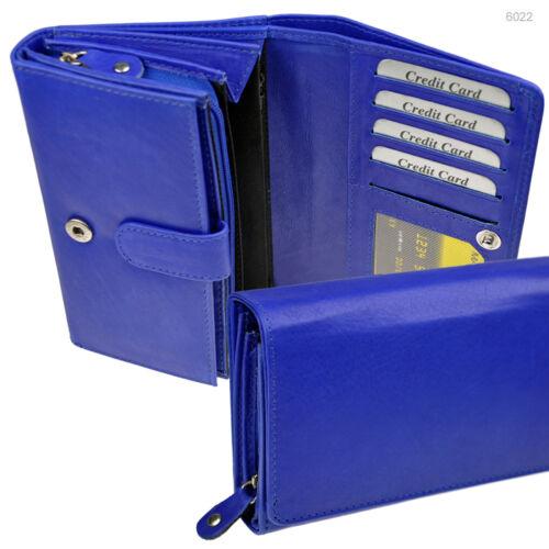 XXL Geldbörse mit RFID-Schutz 28 Fächer Portemonnaie Geldtasche Leder 6022-R