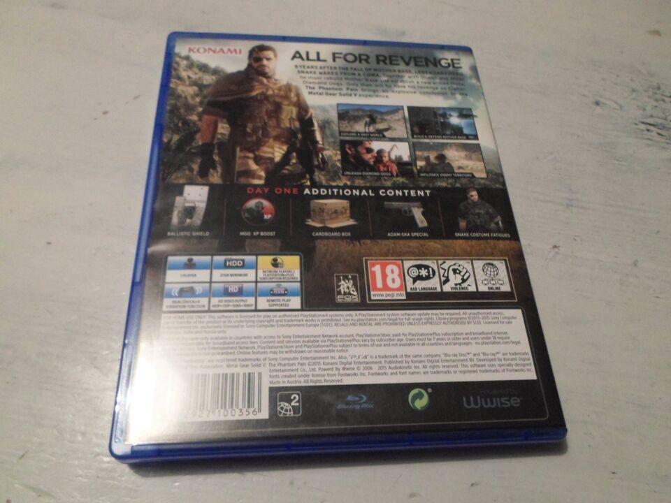 Metal Gear Solid: The Phantom Pain, PS4