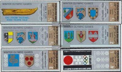 818a-823a Temperamentvoll Nordjemen Postfrisch 1968 Wappen Austra Zu Hohes Ansehen Zu Hause Und Im Ausland GenießEn arabische Rep. kompl.ausg.