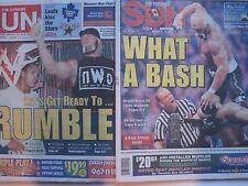 RARE! WWE Historic Wrestlemania Newspaper LOT HOLLYWOOD HULK HOGAN VS. THE ROCK