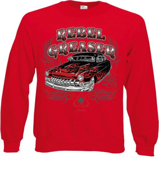 Adattabile Felpa Rosso V8-, Hot Rod-, Us Car &' 50 Style Motivo Modello Rebel Razor Tecnologie Sofisticate
