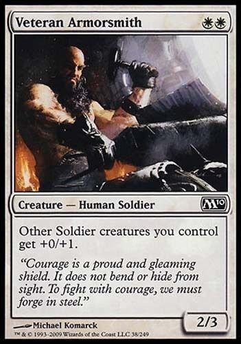 mtg Magic 2010 4 Veteran Armorsmith LP x4 4x