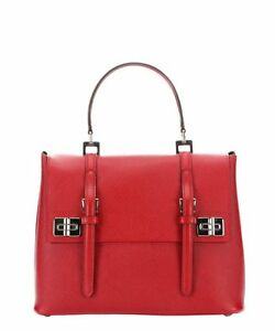 b4822d36b2d4 Image is loading NWT-Authentic-Prada-Saffiano-Leather-Top-Handle-Shoulder-