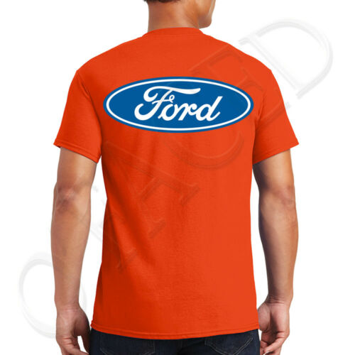 FORD Logo Adult/'s T-shirt Licensed Ford Design on the back Tee for Men 1496B