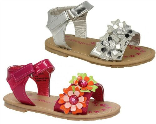 Baby Infant Girls Sandals Ankle Strap Touch Fastening Floral Shoes Size