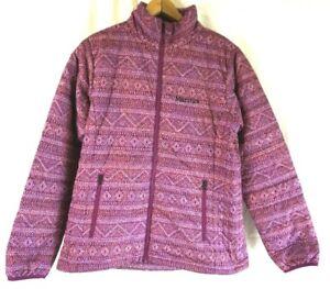 Pink Jacket Stampa Zip Full Puffer New Magenta Chile M Chevron Marmot O4wqqCZxt