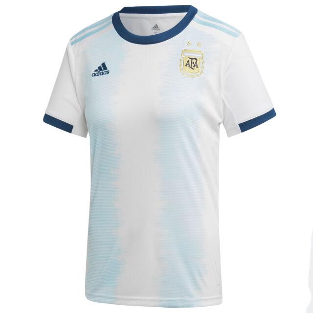 adidas Women's Size Large Argentina Home Soccer Jersey White/aqua ...