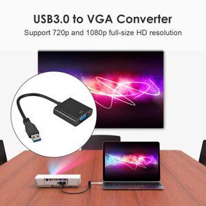 USB 3.0 A VGA Adattatore Video Cavo 1080p Per PC Laptop Windows 7/8/10