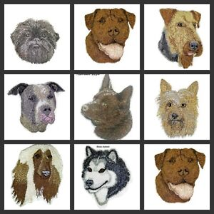 Beautiful Dog Faces Embroidered Iron On Patches (A )