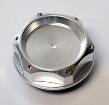 6 Angle Anodized Silver Aluminum JDM Oil Filler Cap FITS Nissan & Infiniti