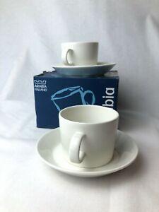 Arabia-of-Finland-Teema-White-Coffee-Cups
