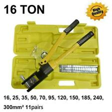 16 Ton 185 Hydraulic Wire Terminal Crimper Crimping Tool Pliers Set With 11 Dies