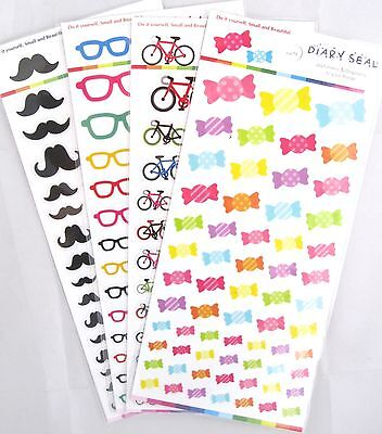 Diary Seal Transparent Sticker Sheet (Your Choice of Objects)~KAWAII!!